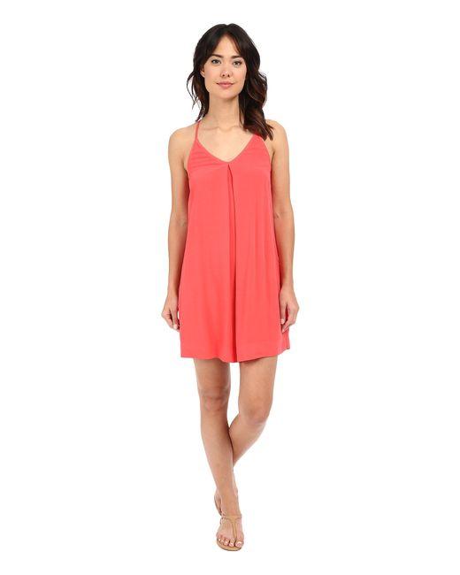 Michael Stars | Red Modern Rayon Cami Tank Dress | Lyst