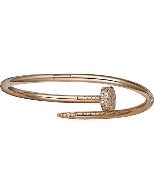 Cartier | Juste Un Clou 18ct Pink-gold And Diamond Bracelet | Lyst