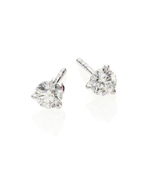 Roberto Coin | Diamond & 18k White Gold Stud Earrings/0.5 Tcw | Lyst