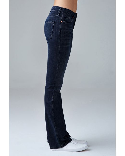Forever 21 | Blue Mid-rise Bootcut Jeans | Lyst