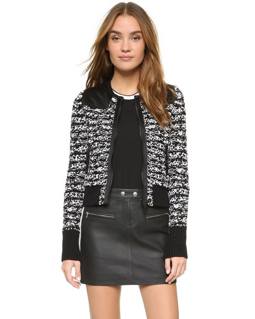 Rag & Bone | Black Harvard Wool and Cottonblend Jacket | Lyst