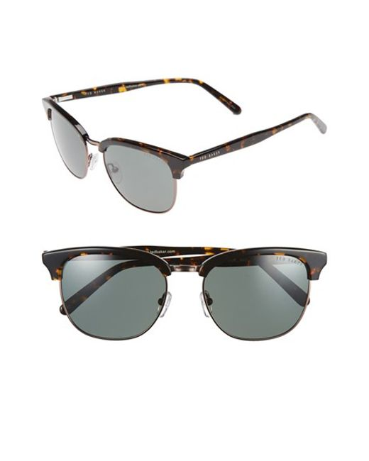 Ted Baker | Brown 54mm Polarized Sunglasses for Men | Lyst