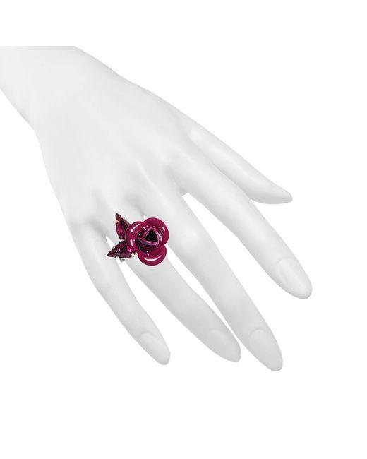 Roberto Cavalli | Purple Tortesoishell And Rhinestone Ring | Lyst