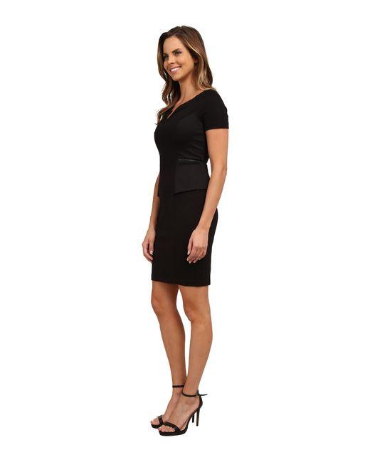 NYDJ | Black Bridget Peplum Dress | Lyst