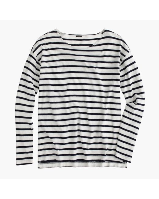 J.Crew   White Deck-striped T-shirt   Lyst