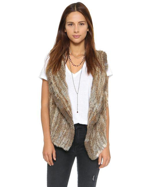Joie | Brown Andoni Rabbit Fur Vest | Lyst