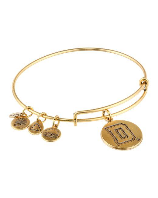 ALEX AND ANI | Metallic Dartmouth College™ Logo Charm Bangle | Lyst