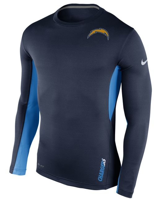 San Diego Chargers Dress: Nike Men's Long-sleeve San Diego Chargers Vapor T-shirt In