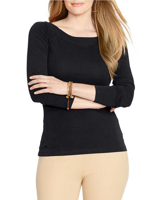 Lauren by Ralph Lauren | Black Plus Long Sleeve Boateck Tee | Lyst