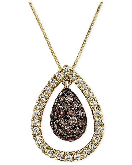 Le Vian | Metallic Chocolatier® Diamond Pendant Necklace (3/4 Ct. T.w.) In 14k Gold | Lyst