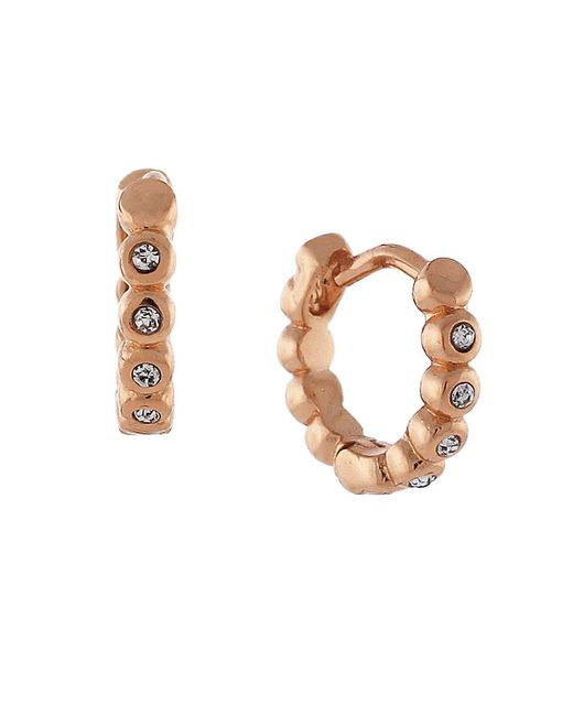 Vince Camuto | Metallic Segmented Huggie Hoop Earrings, 0.5in | Lyst