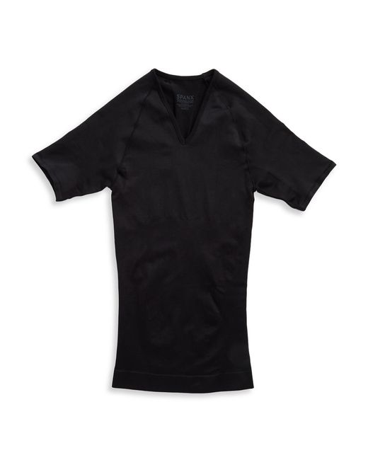 Spanx | Black Seamless V-neck T-shirt for Men | Lyst