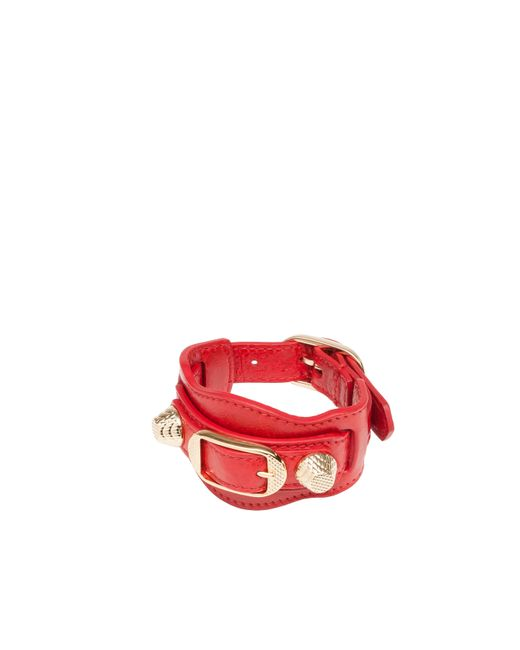 Balenciaga | Red Giant Gold Bracelet | Lyst