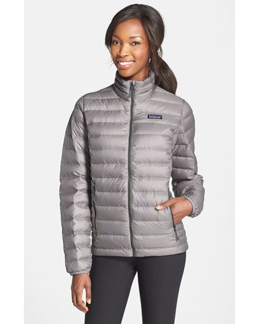 Patagonia Packable Quilted Jacket In Gray Navy Lyst