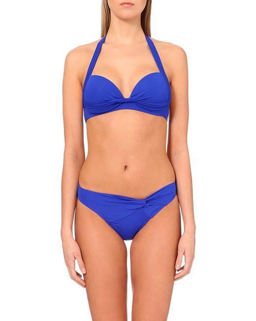 Jets by Jessika Allen | Blue Twist-front Bikini Bottoms | Lyst