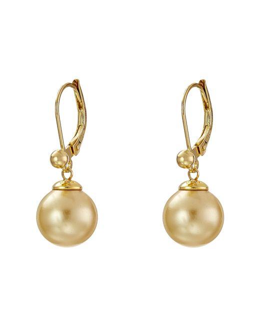 Majorica | Metallic 10mm S.s.w. Drop E/w Earrings | Lyst