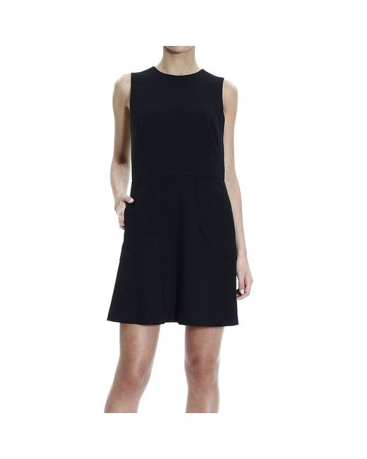 RED Valentino | Blue Knit-Lace Dress | Lyst