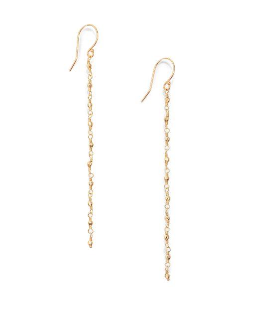 Mizuki | Metallic Core 14k Yellow Star Beaded Drop Earrings | Lyst