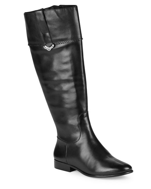 Jack Rogers | Black Harper Leather Riding Boots | Lyst