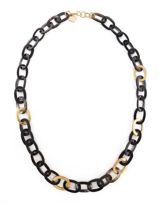 Ashley Pittman   Black Bronze & Horn Link Mara Necklace   Lyst