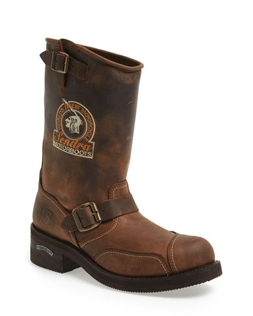 sendra rider motorcycle boot in brown for lyst