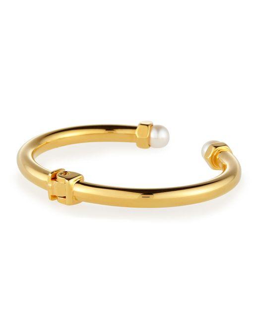 Vita Fede | Metallic Mini Luciano Pearl Hinge Bracelet | Lyst