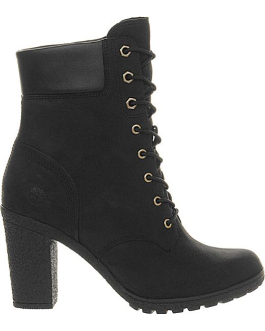 timberland glancy leather ankle boots in black lyst