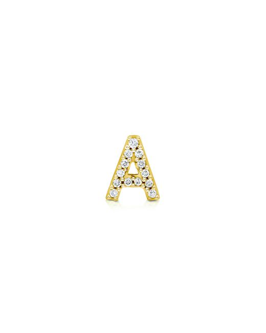 Carbon & Hyde | Yellow Diamond Letter Stud | Lyst