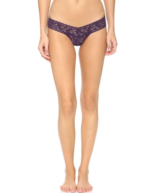 Hanky Panky | Purple Signature Lace Low Rise Thong - Persimmon | Lyst