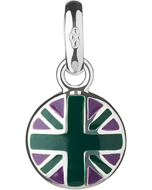 Links of London | Green Wimbledon Round Union Jack Sterling-silver Charm | Lyst