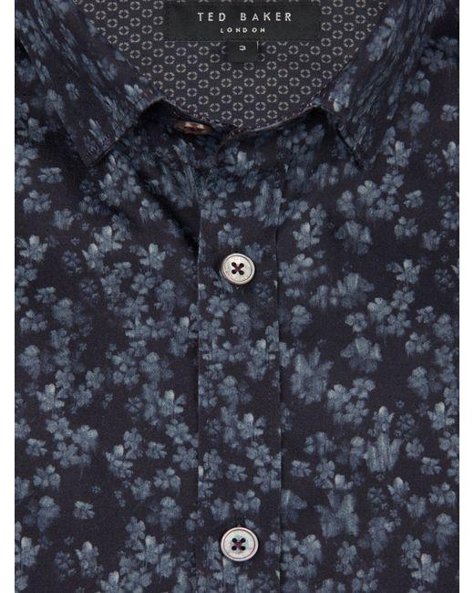 Ted Baker | Blue Lenons Geo Print Cotton Shirt for Men | Lyst