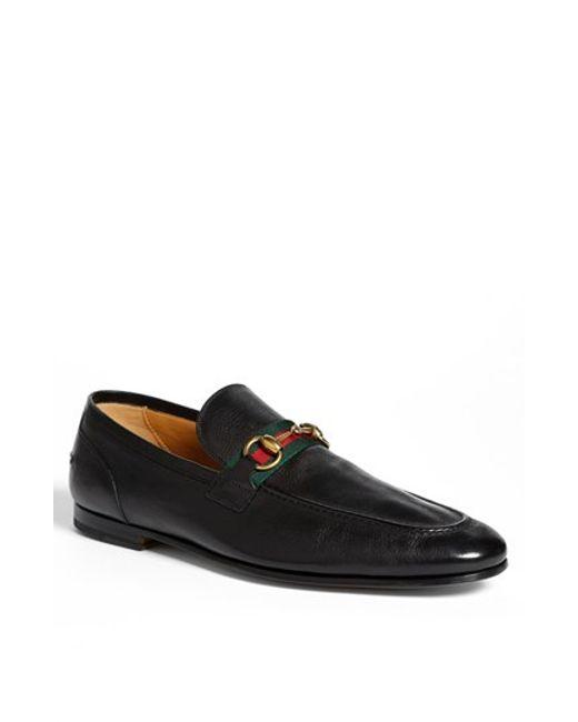 Gucci | Black 'elanor' Bit Loafer for Men | Lyst