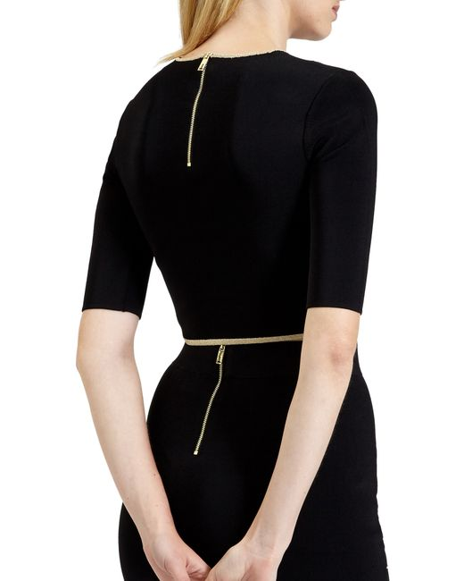 Ted Baker | Black Shelina Knitted Crop Top | Lyst