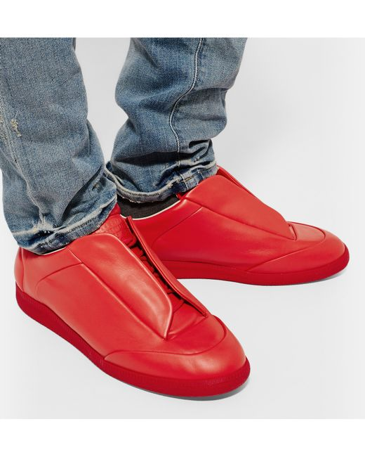 maison margiela 39 future 39 sneakers in red for men save 24 lyst. Black Bedroom Furniture Sets. Home Design Ideas