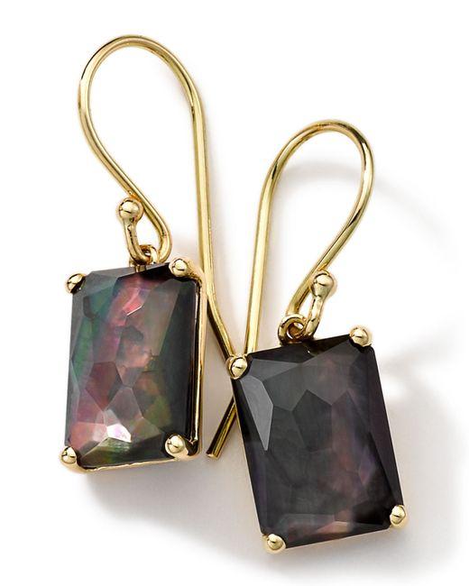 Ippolita   Metallic 18k Gold Rock Candy Gelato Black Shell Earrings   Lyst
