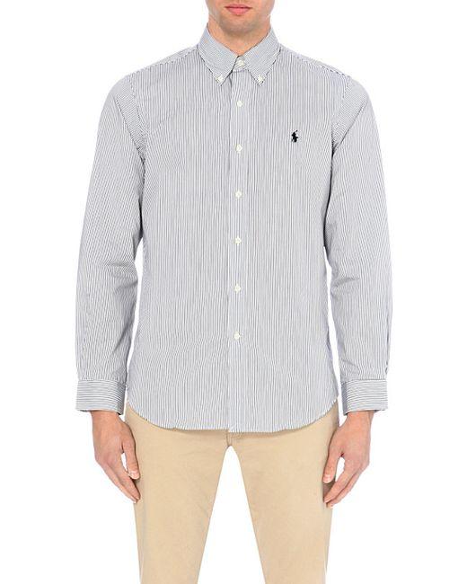 Polo Ralph Lauren | Black Regular-fit Single-cuff Striped Cotton Shirt for Men | Lyst
