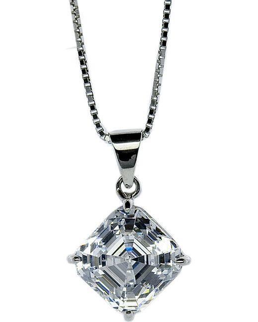 Carat* | Metallic Asscher 1.25ct Solitaire Pendant Necklace | Lyst