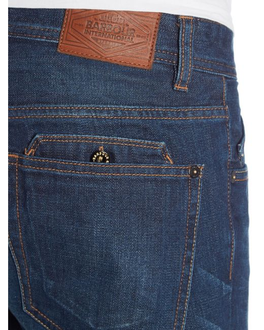 Barbour | Blue Slim Tapered Cyclone Jeans for Men | Lyst