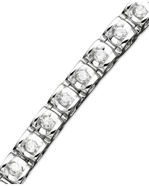 Macy's | Metallic Diamond Bracelet In 14k White Or Yellow Gold (1 Ct. T.w.) | Lyst