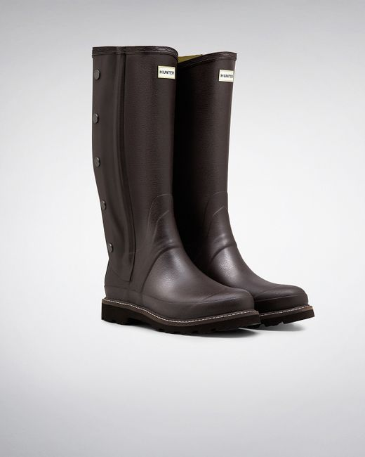 Hunter | Brown Men's Balmoral Side Zip Wellington Boots for Men | Lyst