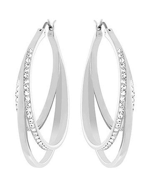 Swarovski | Metallic Spiral Pierced Earrings | Lyst