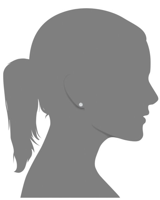 Arabella | Metallic Swarovski Zirconia Stud Earrings (7mm) | Lyst