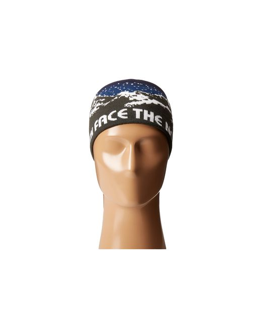 The North Face Chizzler Headband In Black For Men Asphalt