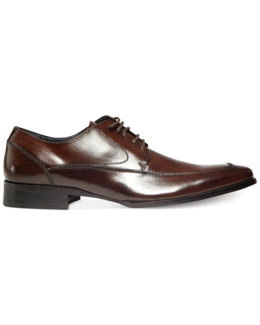 steve madden sayge lace up dress shoes in brown for
