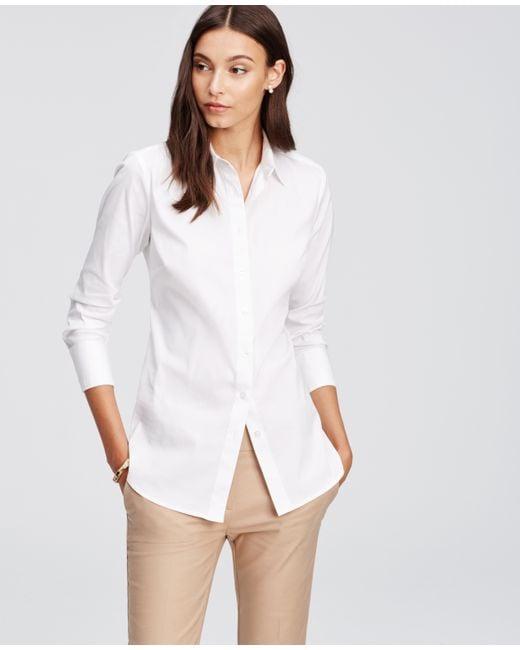 Ann Taylor   White Perfect Shirt   Lyst