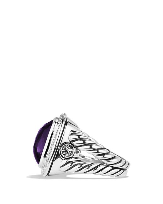 David Yurman | Albion Ring With Black Orchid & Diamonds | Lyst