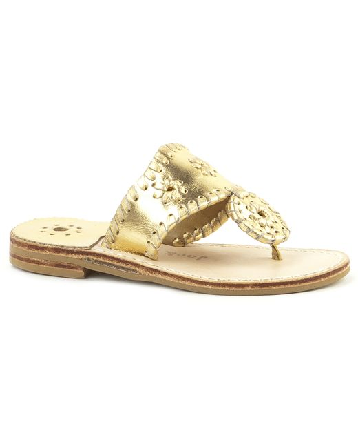 Jack Rogers | Metallic Girls' Hamptons Miss Sandal | Lyst