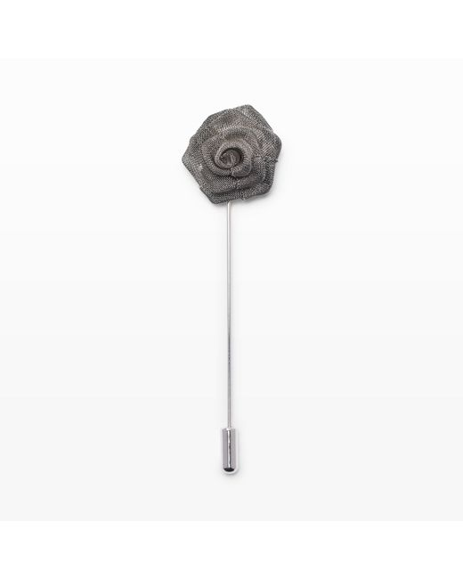 Club Monaco   Metallic Metal Mesh Lapel Pin for Men   Lyst