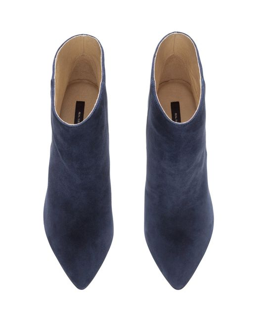 h m suede boots in blue blue save 38 lyst