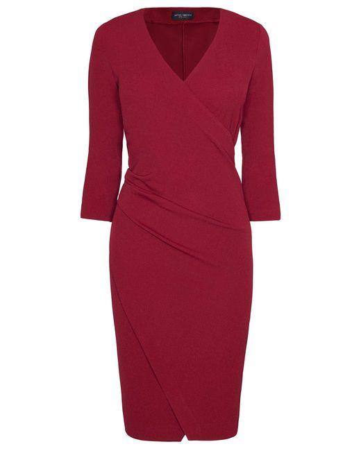 James Lakeland | Red Folded Crepe Midi Dress | Lyst